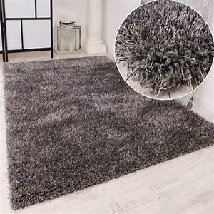 Hochflor Teppich Rund : shaggy teppich hochflor langflor leicht meliert qualitativ u preiswert uni grau wohn und ~ Indierocktalk.com Haus und Dekorationen