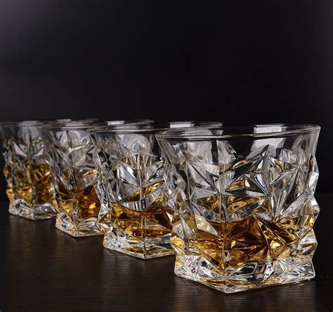 Whiskey Glas Kristall by Set Of 4 Clear Whiskey Glasses Scotch Bourbon