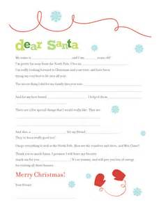 Free Printable Fill in the Blank Santa Letters