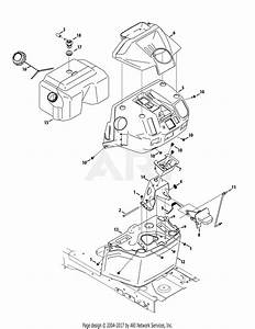 Troy Bilt 13aaa1kt066 Tb2246  2015  Parts Diagram For Fuel Tank  U0026 Dash