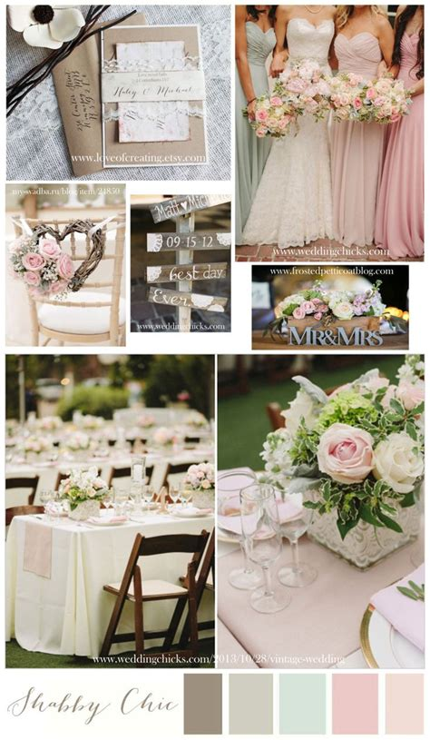 shabby chic wedding colors wedding color theme