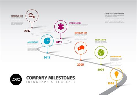 timeline template  icons   software