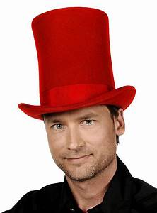Tall Top Hat red - maskworld com