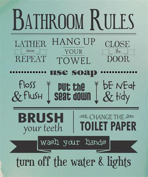 25+ Bästa Idéerna Om Bathroom Rules På Pinterest
