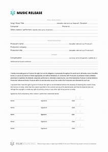 download free filmmaking production documents With music video release form template