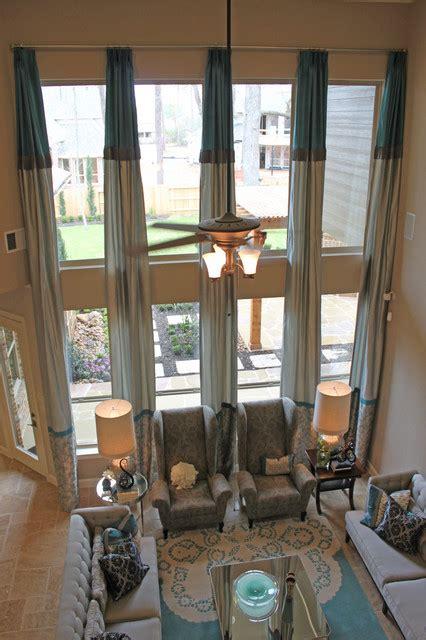drapery contemporary living room houston by - Drapes Houston