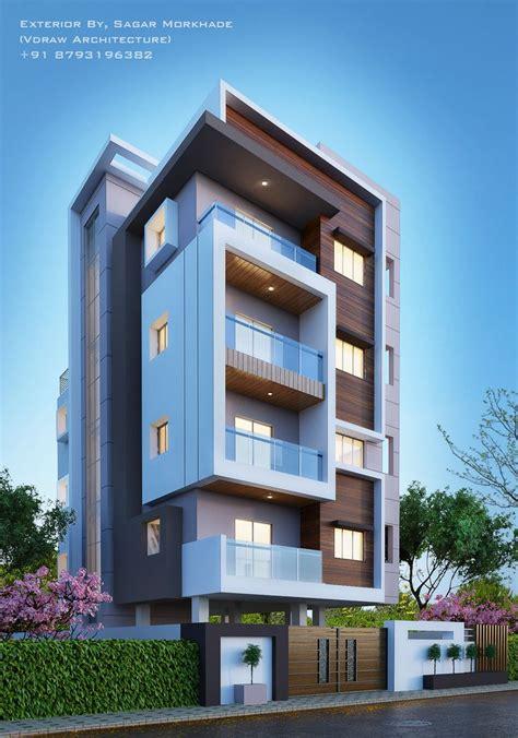 Residential Sheds by Modern Residential Flat Scheme Exterior By Sagar Morkhade