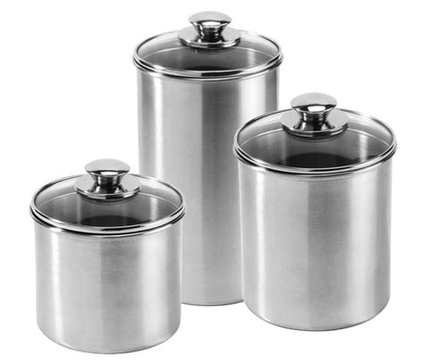 Amco Stainless Steel Canister Set, 3piece