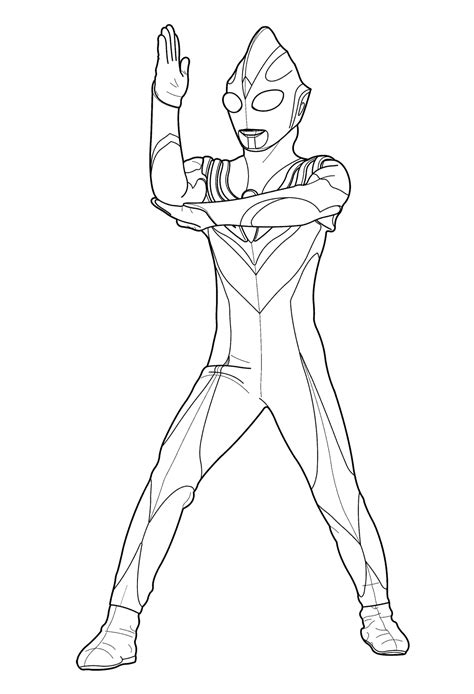 ultraman coloring pages getcoloringpagescom