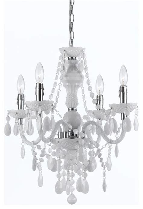 white plastic chandelier plastic 4 light mini chandelier in white white