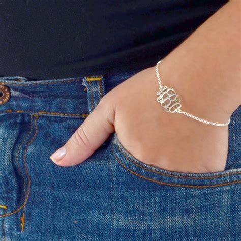 sterling silver monogram bracelet anklet   necklace