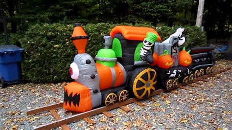 gemmy inflatable halloween train youtube