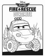 Dynamite Coloring Rescue Fire sketch template