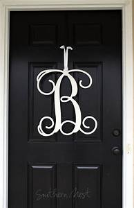 large 20 inch wooden monogram ready to paint single With single letter monogram for front door