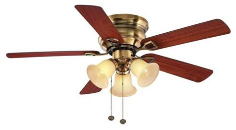 hton bay clarkston ceiling fan hton bay ceiling fans clarkston 44 in antique brass