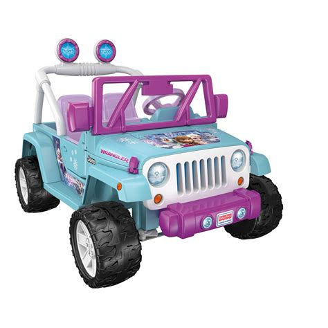 blue barbie jeep power wheels 12v battery toy ride on jeep wrangler