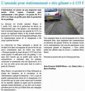 Amende Stationnement Genant : stationnement tr s g nant r my batiot envisage une campagne de sensibilisation des manceaux ~ Medecine-chirurgie-esthetiques.com Avis de Voitures