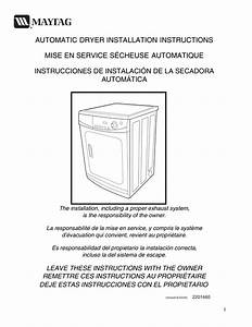 Download Free Pdf For Maytag Mde2400ayw Dryer Manual