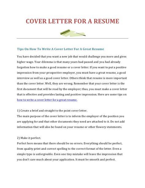 write  cover letter   resume