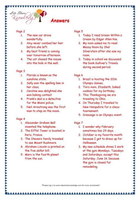 grade 3 grammar topic 29 capitalization worksheets