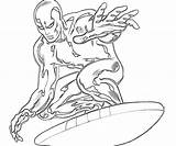 Surfer Coloring Silver Pages Surfing Printable Drawings Print Superheroes Character Elegant Ages Popular Drawing Getdrawings Getcolorings Doom Coloringhome sketch template