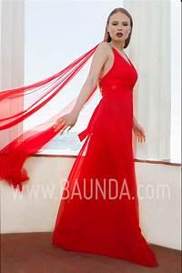 Baunda Vestido largo liso rojo 2017 Baunda 1765 en Madrid y tienda online