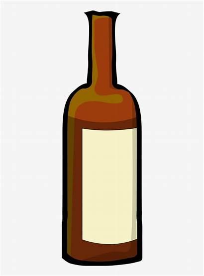 Bottle Wine Cartoon Alcohol Clipart Bottles Drink