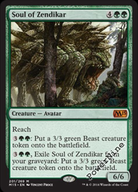 Tarmogoyf Deck Modern 2015 by 4 Soul Of Zendikar Green Magic 2015 M15 Mtg Magic Mythic