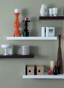 15 modern floating shelves design ideas rilane for Shelves design ideas