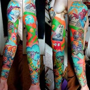 New School Skull tattoo sleeve | Sleeve tattoos, Tattoos ...