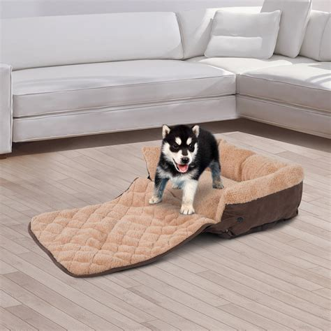 pawhut pet sofa mat bed warm cushion cat puppy dog couch
