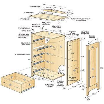 Shaker Style Bookcase by Woodwork Blueprints Wood Dresser Pdf Plans