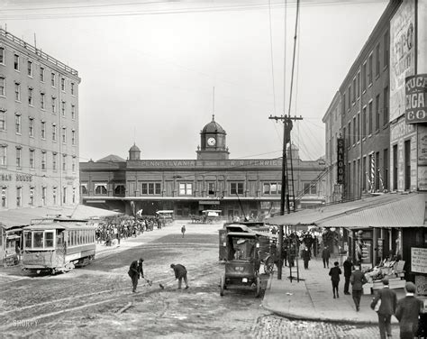 Old Boat In Philadelphia by Shorpy Historic Picture Archive Ferry Terminal 1905