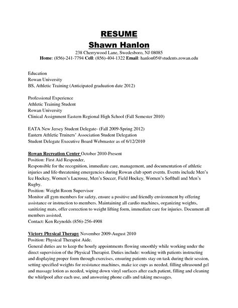 sample athletic resumes athlete resume for college 71 images sample resume