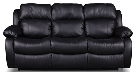 Sofa Schwarz Leder black bonded leather sofa home furniture design