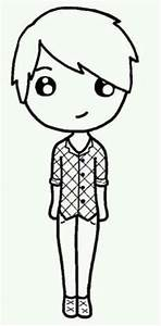 Chibi Boy Outline Pictures to Pin on Pinterest - PinsDaddy