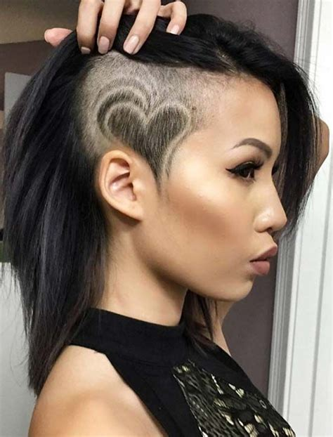 45 undercut hairstyles with hair tattoos for women with