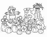 Coloring Harvests Feast Pumpkin sketch template
