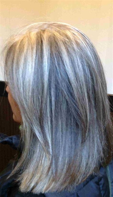 chocolate granite hair color with silver grey base color