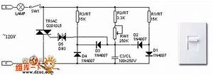 Scr Dimmer Circuit Of The 120v Incandescent Lamp - Control Circuit - Circuit Diagram