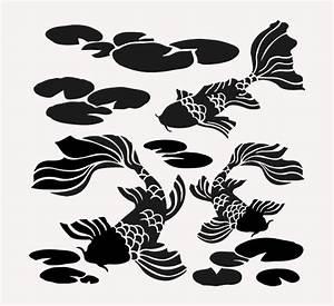 Koi Fish Stencil Fish Pond Craft Paint Art Stencils