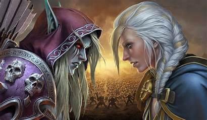 Jaina Sylvanas Warcraft Proudmoore Windrunner Azeroth Battle