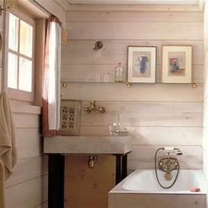 les differents types de lambris marie claire maison With lambris hydrofuge salle de bain