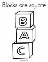 Coloring Blocks Square Noodle Alphabet Twisty Built California Usa sketch template