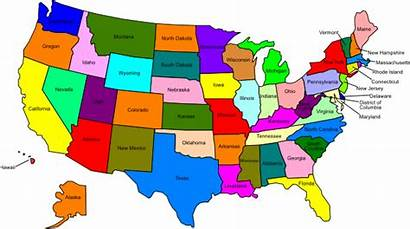 States Map United Clip Usa Mainland Showing