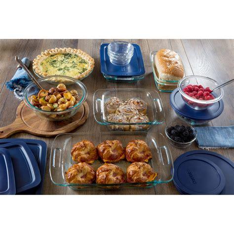 pyrex bakeware piece grab easy baking lids oven safe microwave storage serving glass bake amazon measure hocking anchor sets kitchen