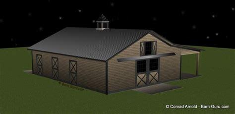 stall horse barn plans  sale