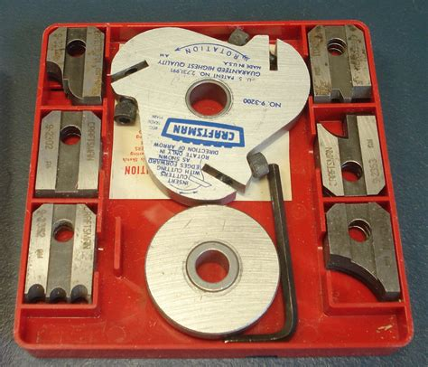 table saw moulding head craftsman 9 3221 table radial arm saw molding cutter set