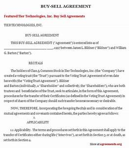 sample buy sell agreement template free printable documents With business buyout agreement template