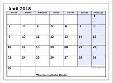 Calendarios abril 2018 LD